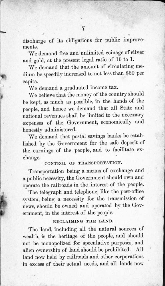 Constitution and by-laws of the People's Party Club - 8