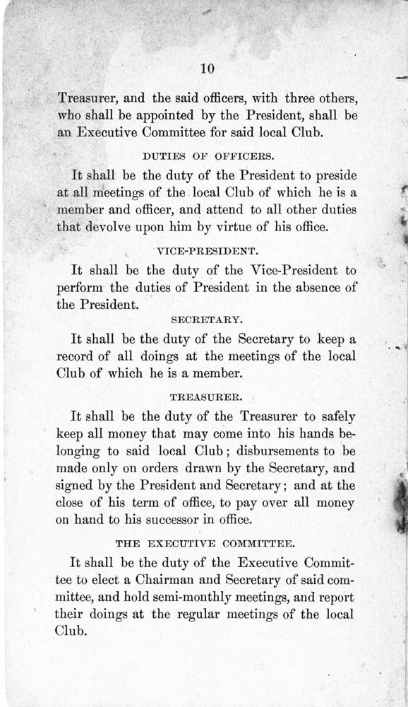 Constitution and by-laws of the People's Party Club - 11