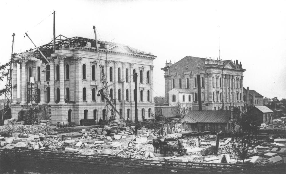 Kansas State Capitol construction