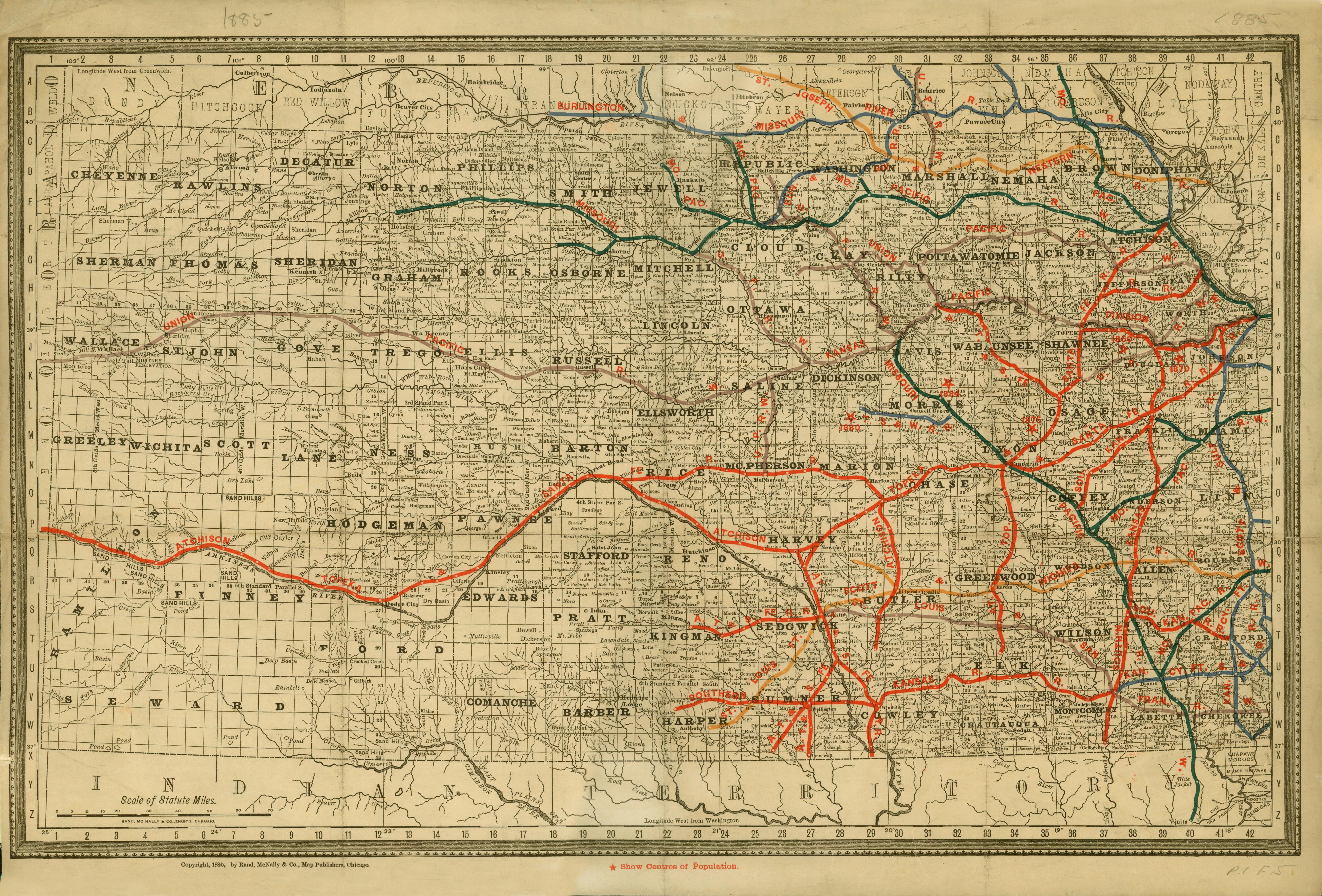 Kansas railroad map