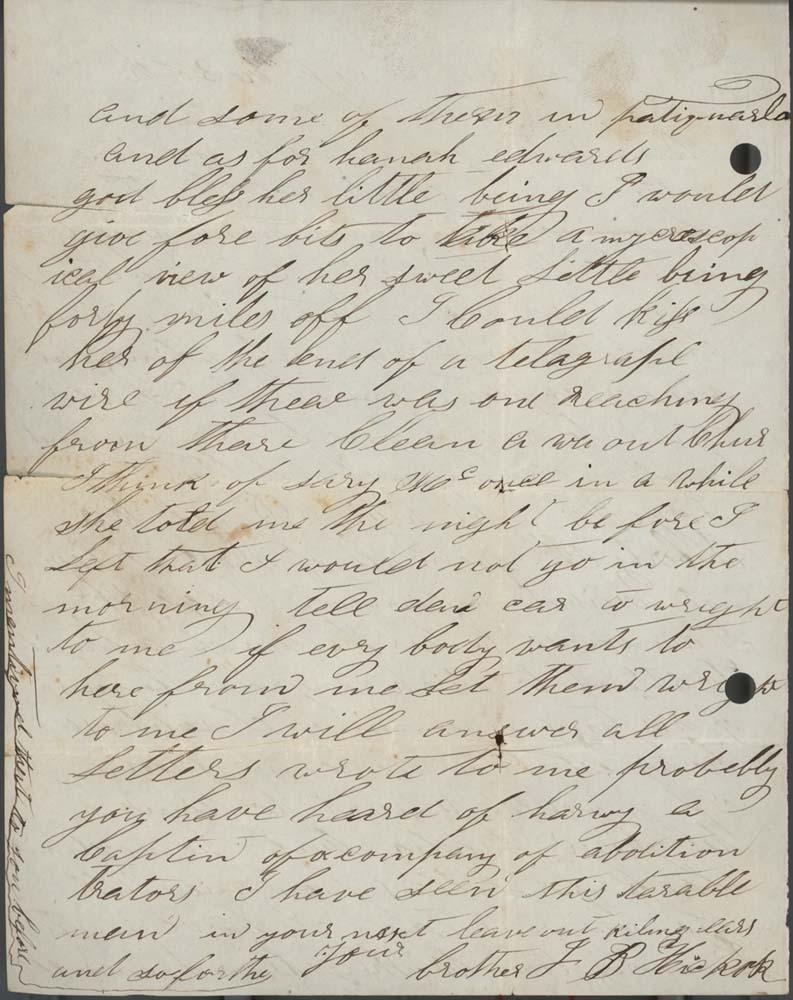 """James Butler """"Wild Bill"""" Hickok to Lydia Hickok - 2"""
