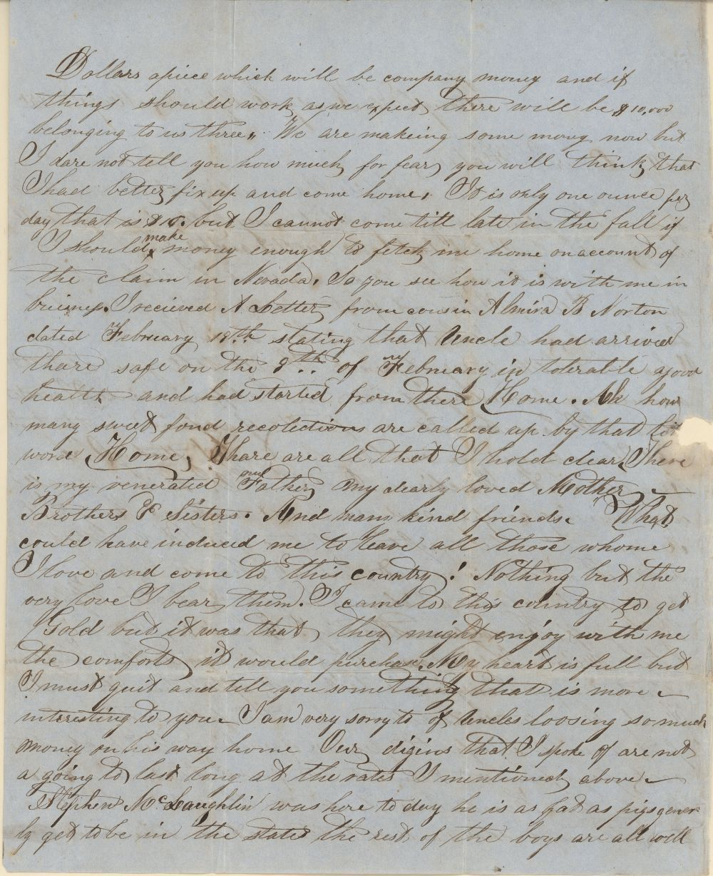 James Butler (Wild Bill) Hickok family collection - May 1, 1851, p2