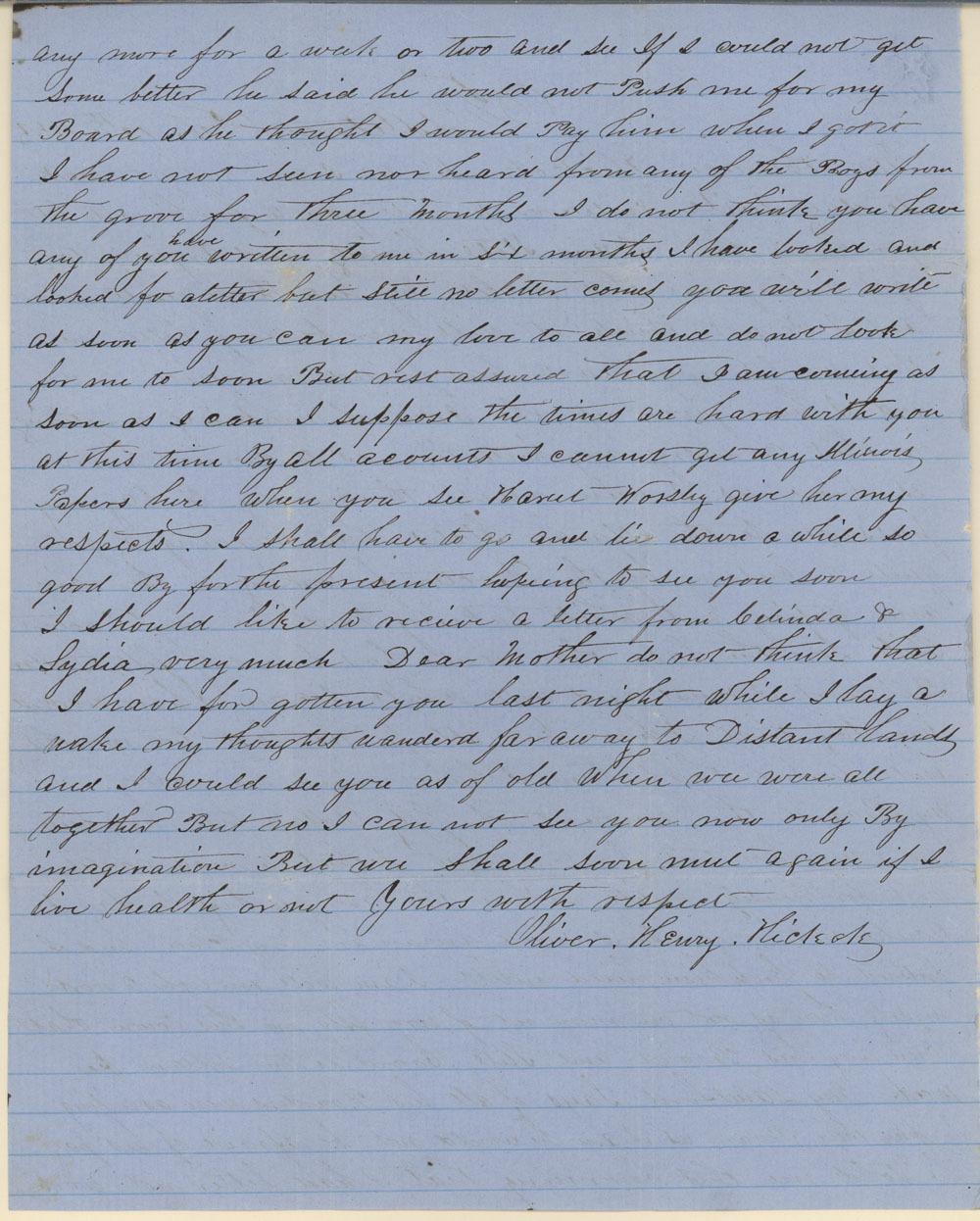 James Butler (Wild Bill) Hickok family collection - February 12, 1855, p2