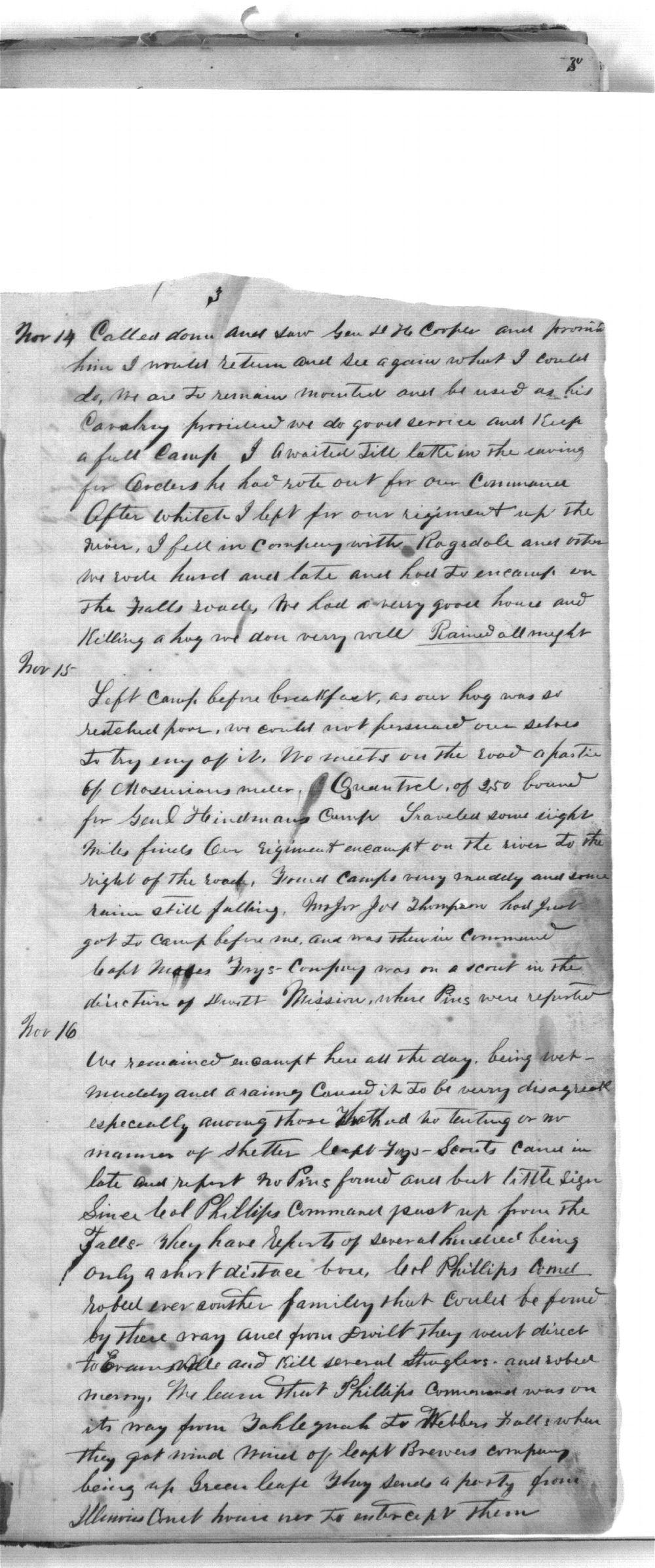 First Cherokee Regiment day book - 3