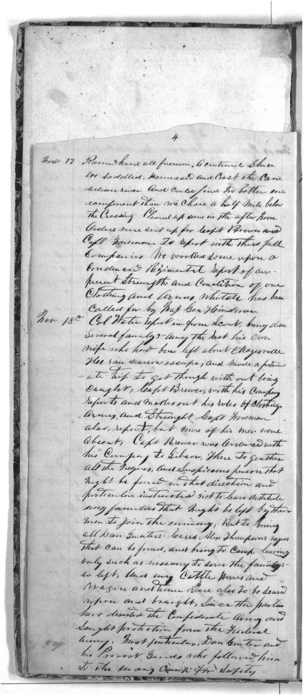 First Cherokee Regiment day book - 4