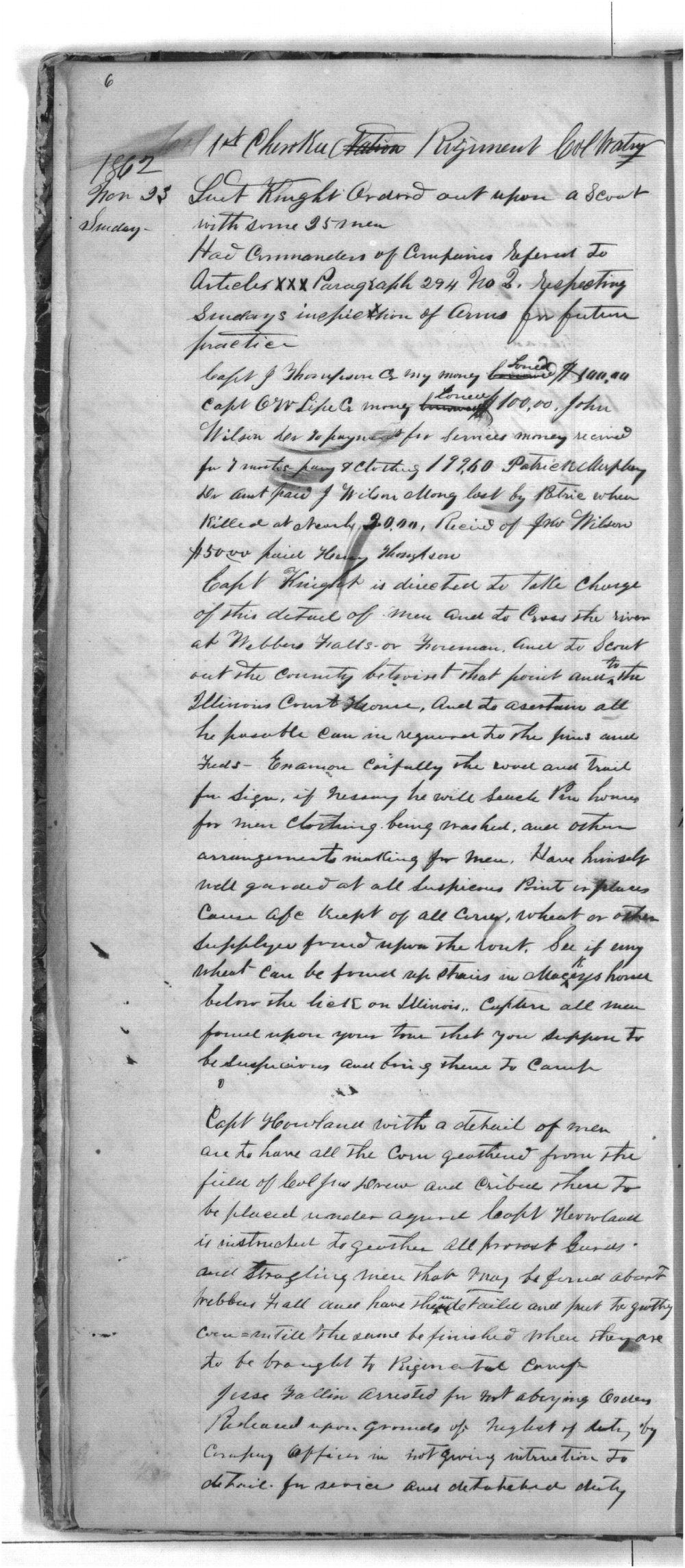 First Cherokee Regiment day book - 6