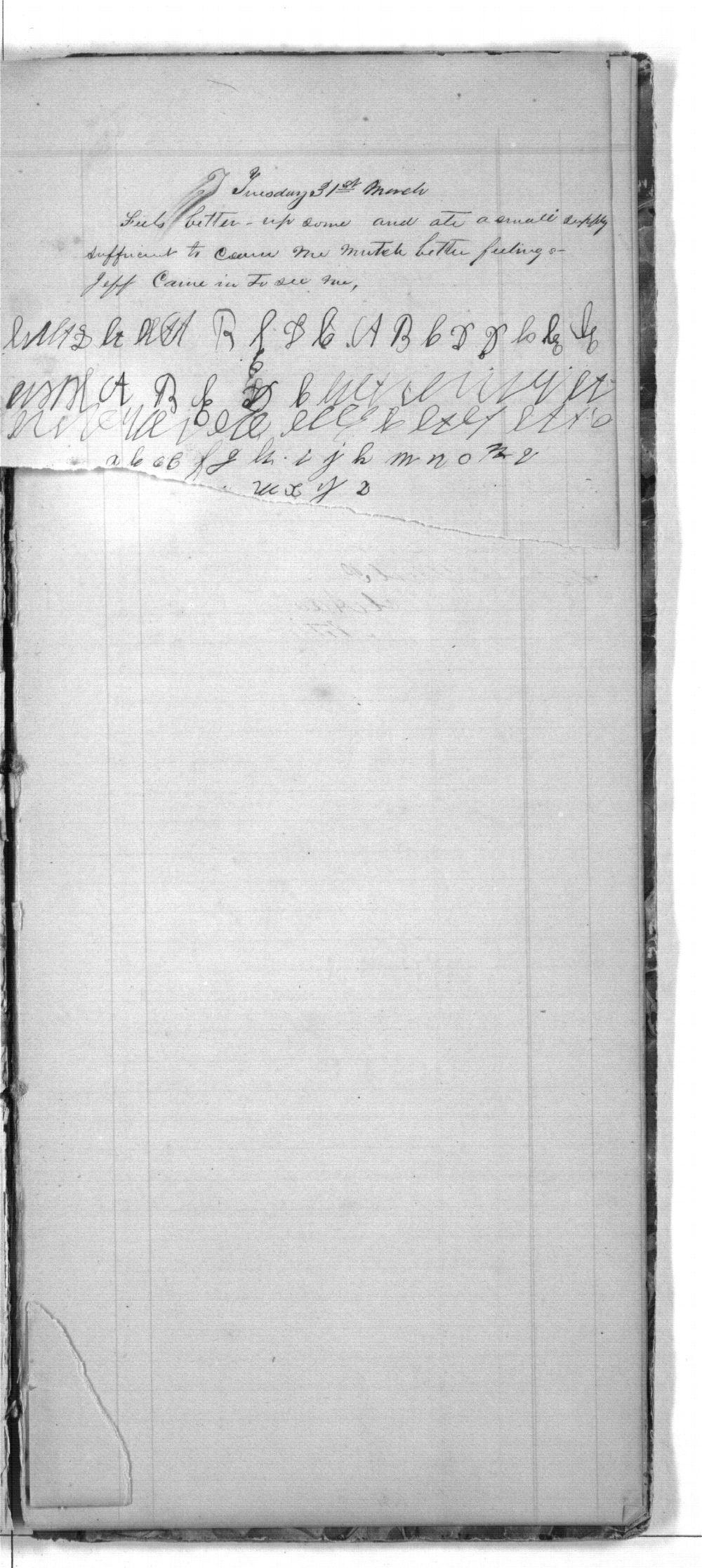 First Cherokee Regiment day book - 99
