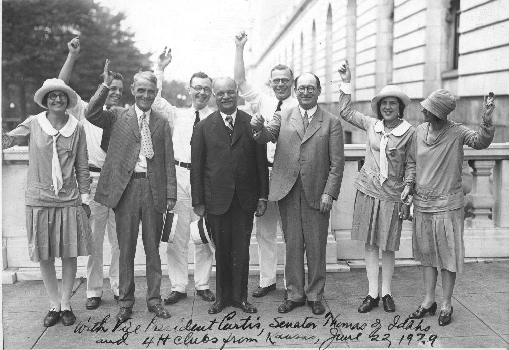 Arthur Capper, Charles Curtis, and John W. Thomas