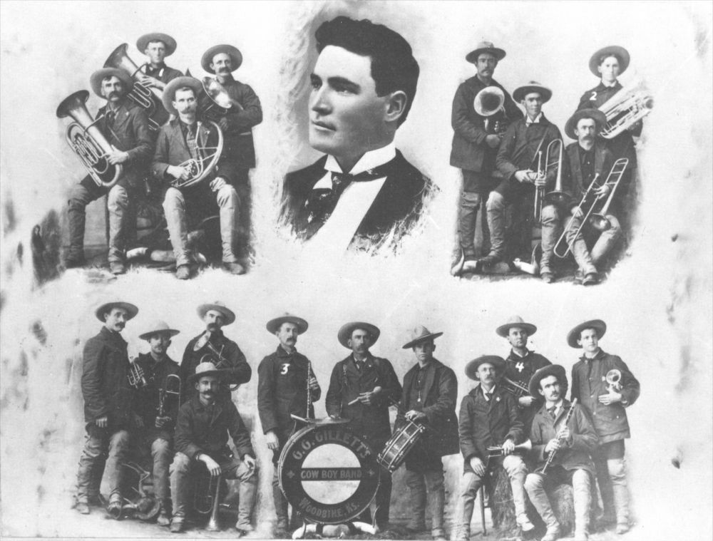 G. G. Gillette's Cowboy Band, Woodbine, Kansas