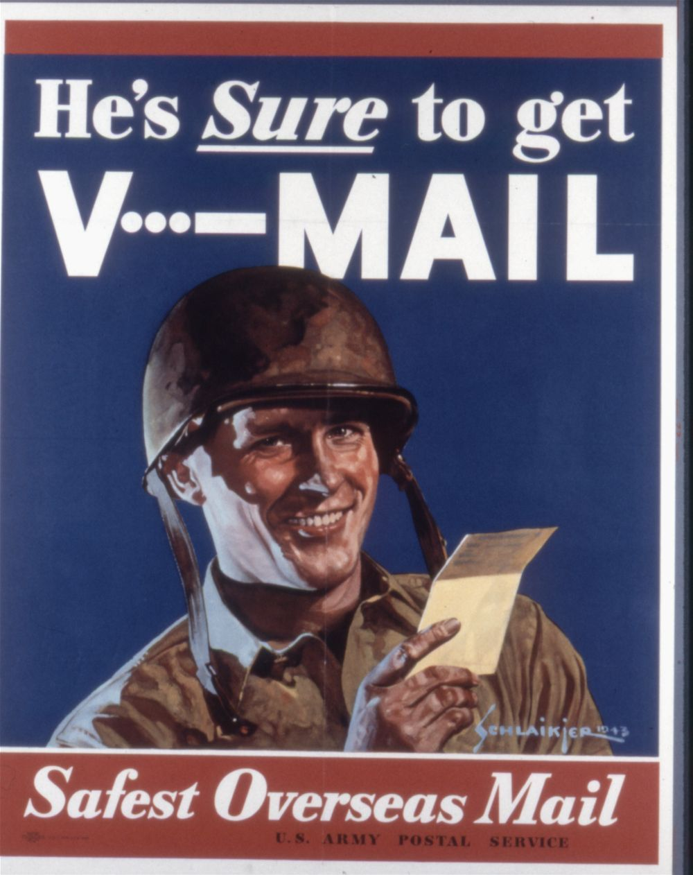 He's sure to get v-mail. Safest overseas mail