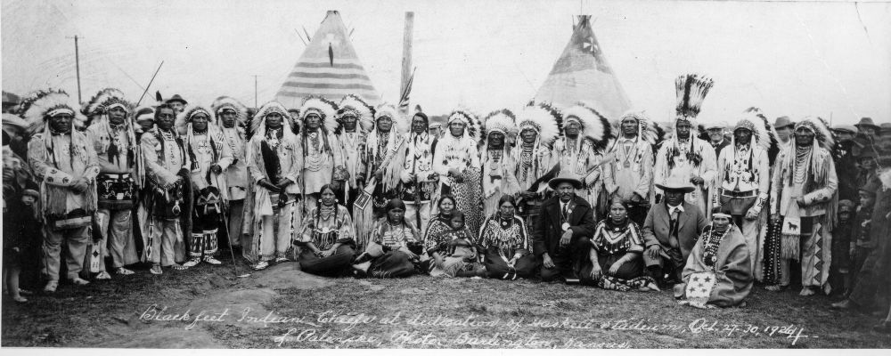 Blackfeet Indian Chiefs - Kansas Memory - Kansas Historical Society