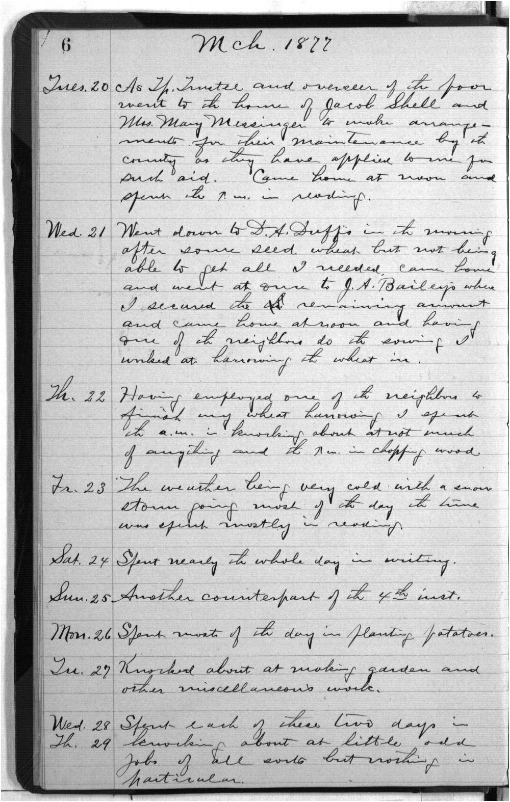 Elam Bartholomew diary - 6