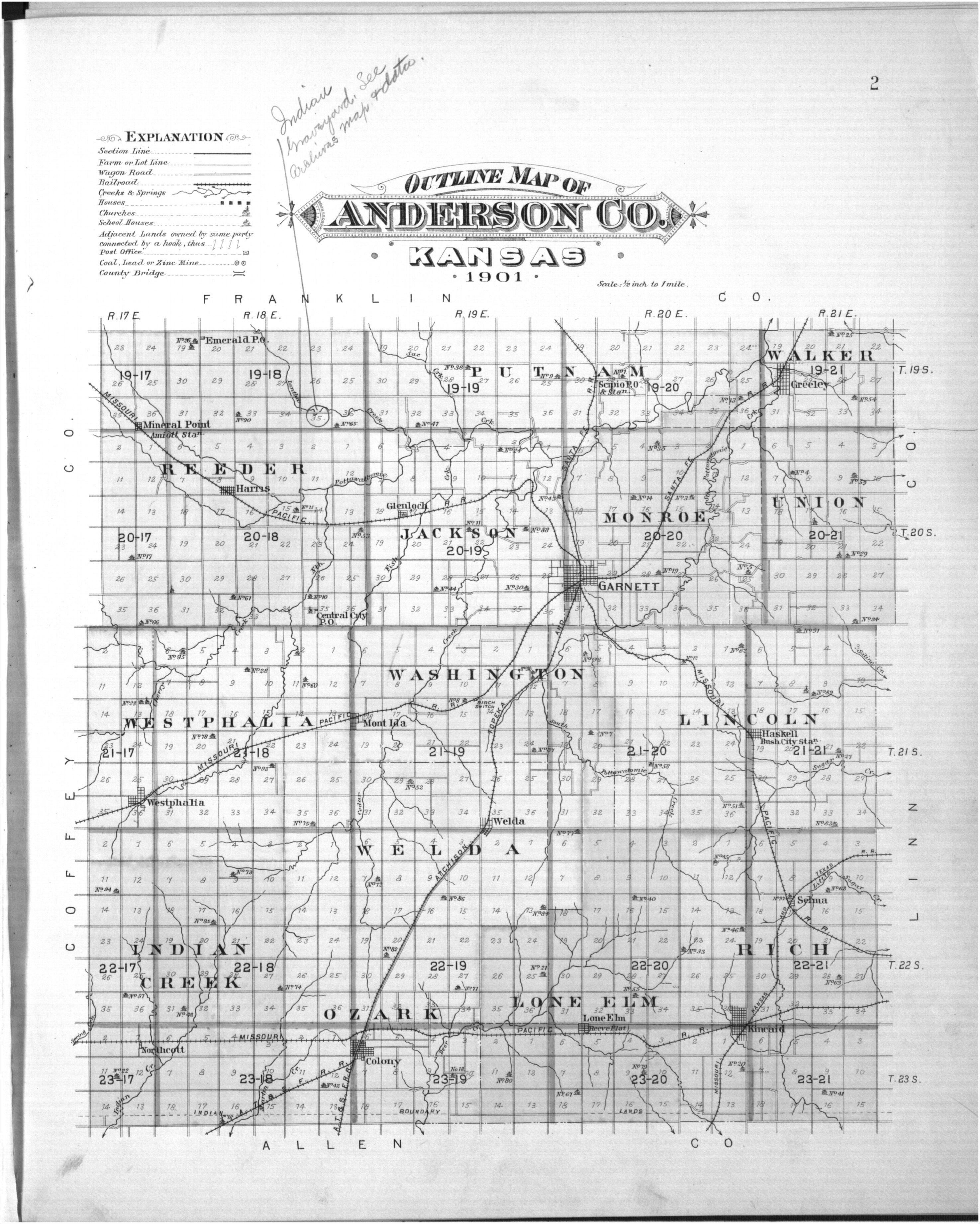 Plat book, Anderson County, Kansas - 34