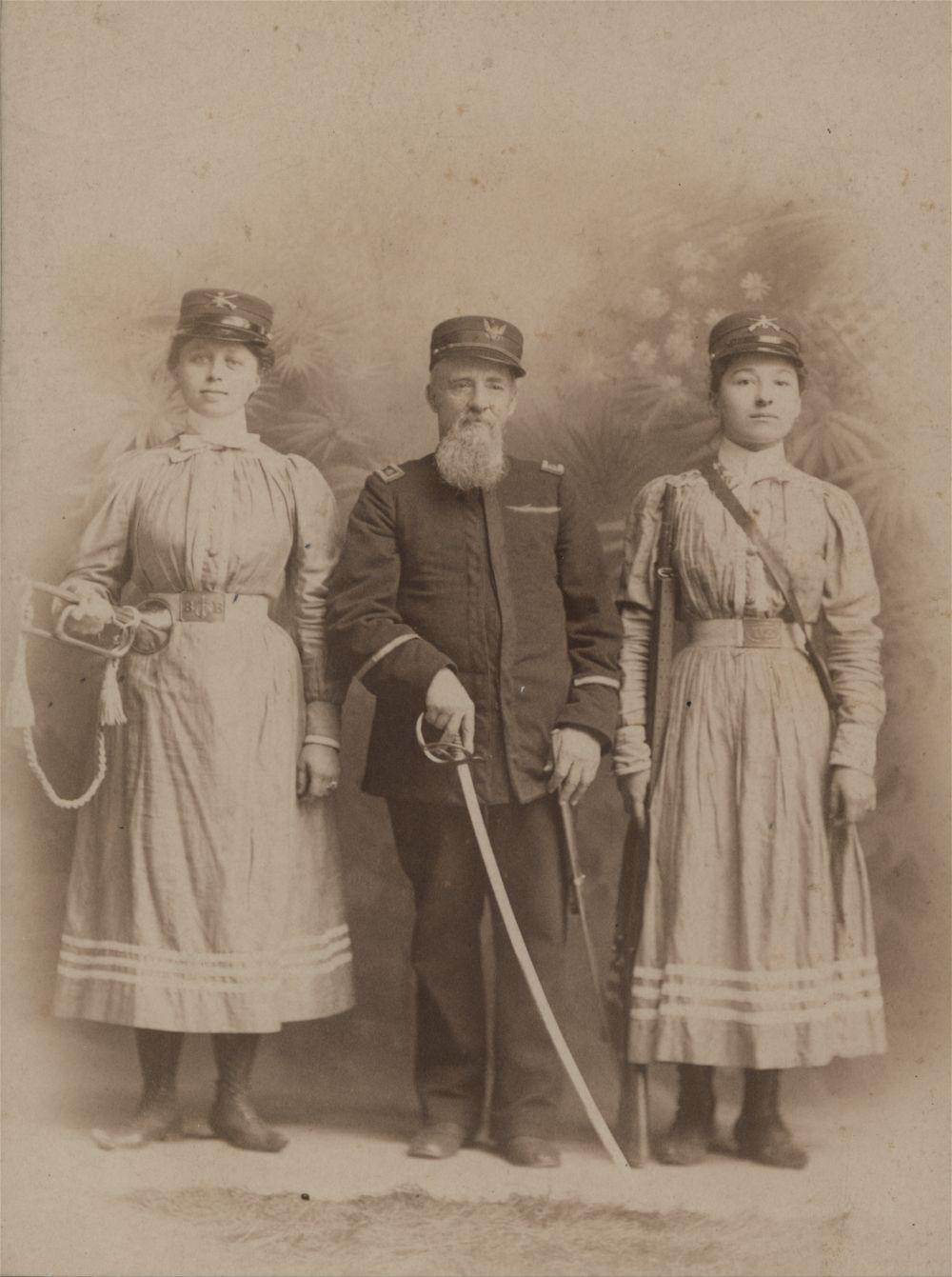 Boyd's Girl Cadets with H. N. Boyd, Topeka, Kansas