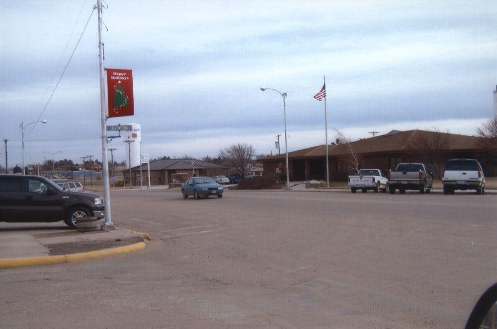 Business buildings in Elkhart, Kansas