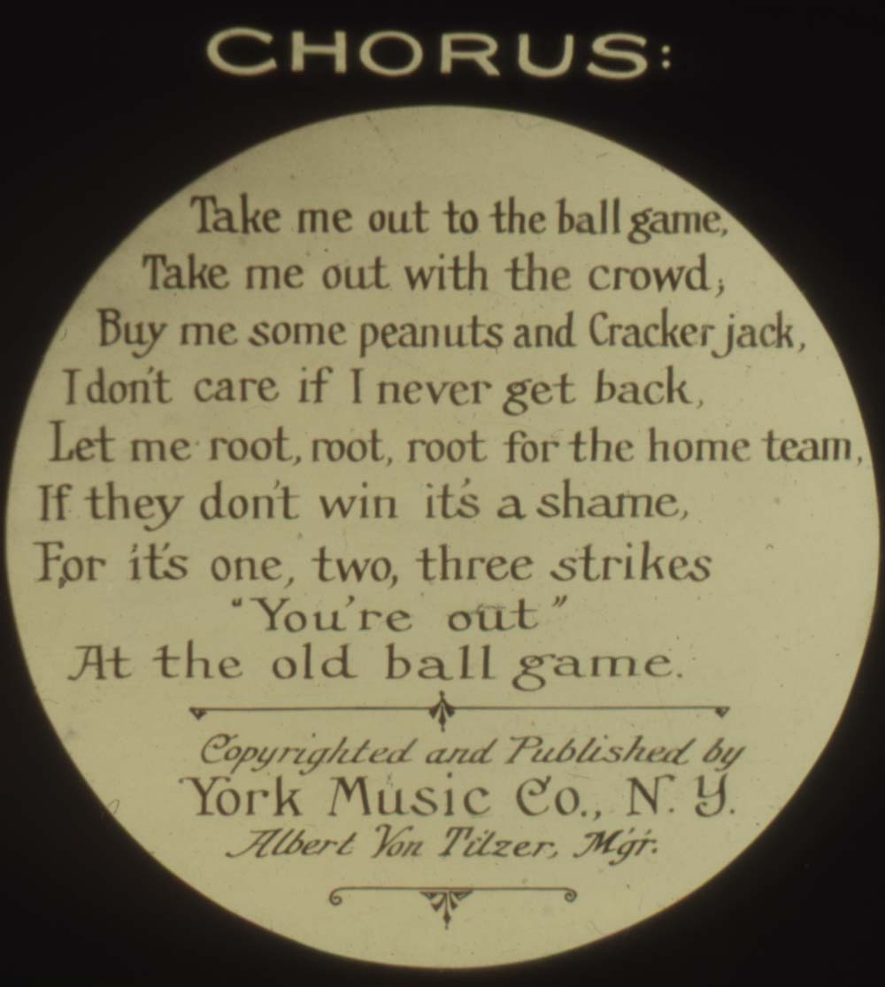 Take Me Out To The Ball Game song slide
