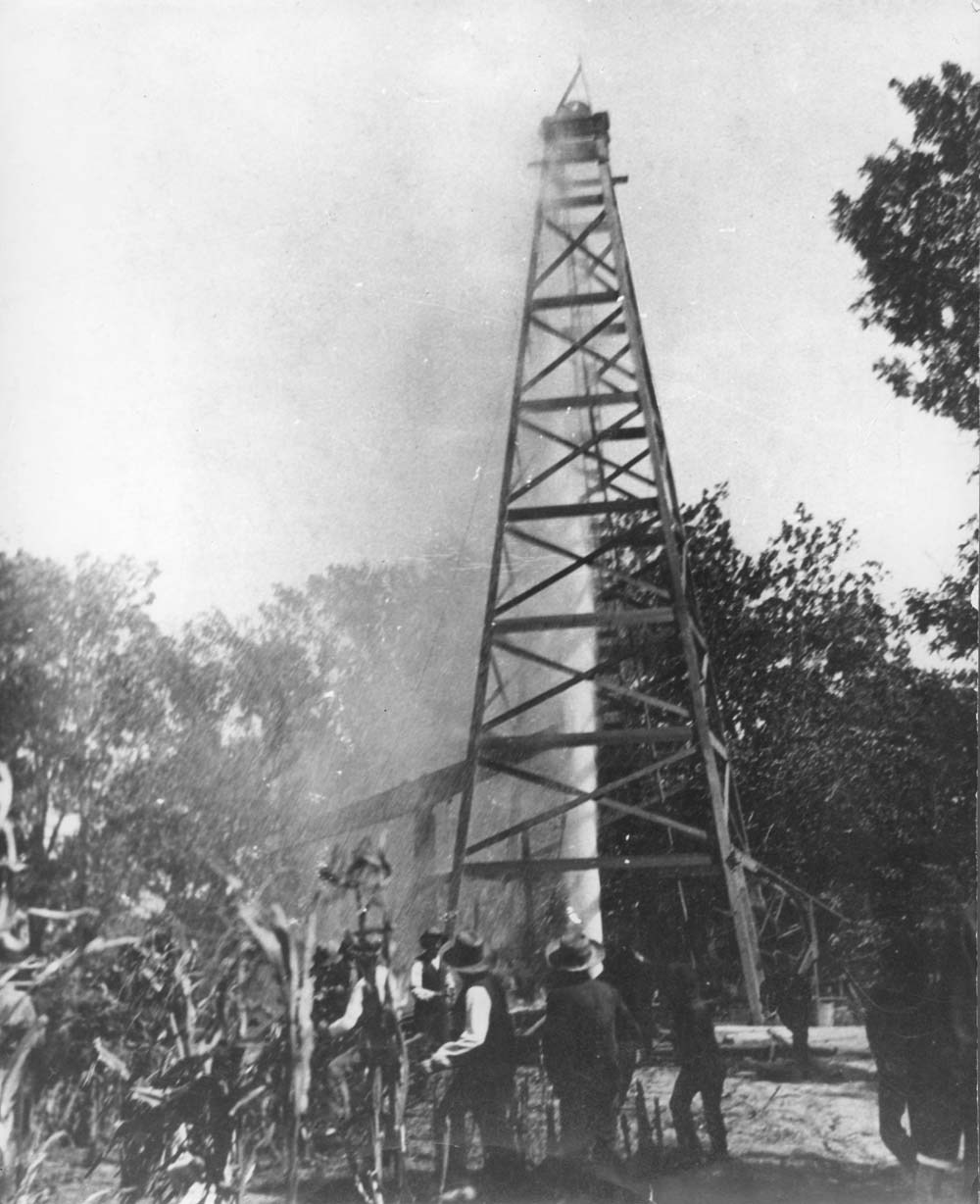 Norman #1, a discovery oil well in the Mid-continent field near Neodesha, Kansas