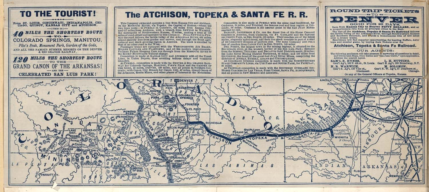 From the river to the mountains via the Atchison, Topeka and Santa Fe R. R. - 2