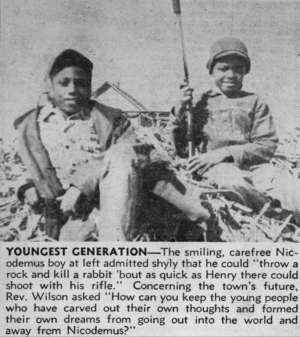 Children from Nicodemus, Kansas