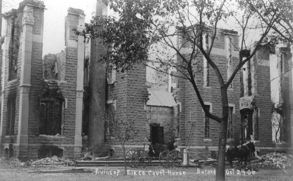 Ruins of the Elk County Courthouse