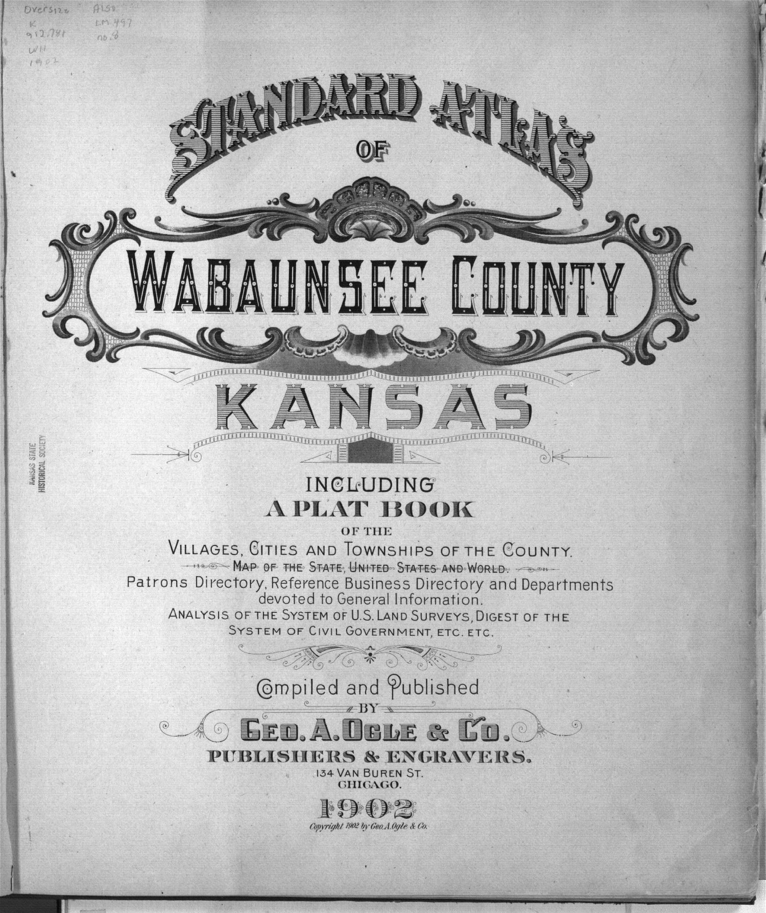 Standard atlas of Wabaunsee County, Kansas - Title Page
