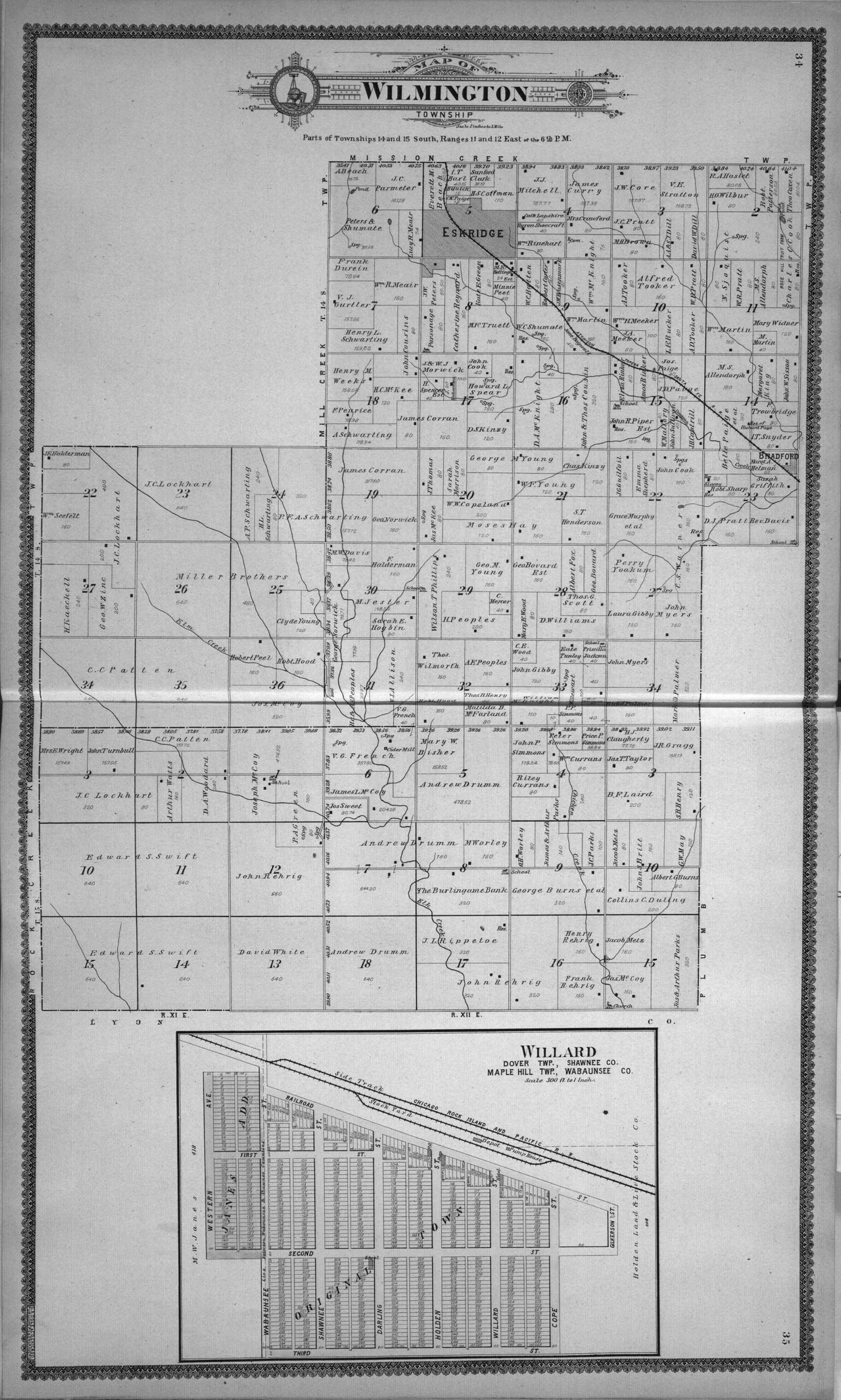 Standard atlas of Wabaunsee County, Kansas - 34 & 35