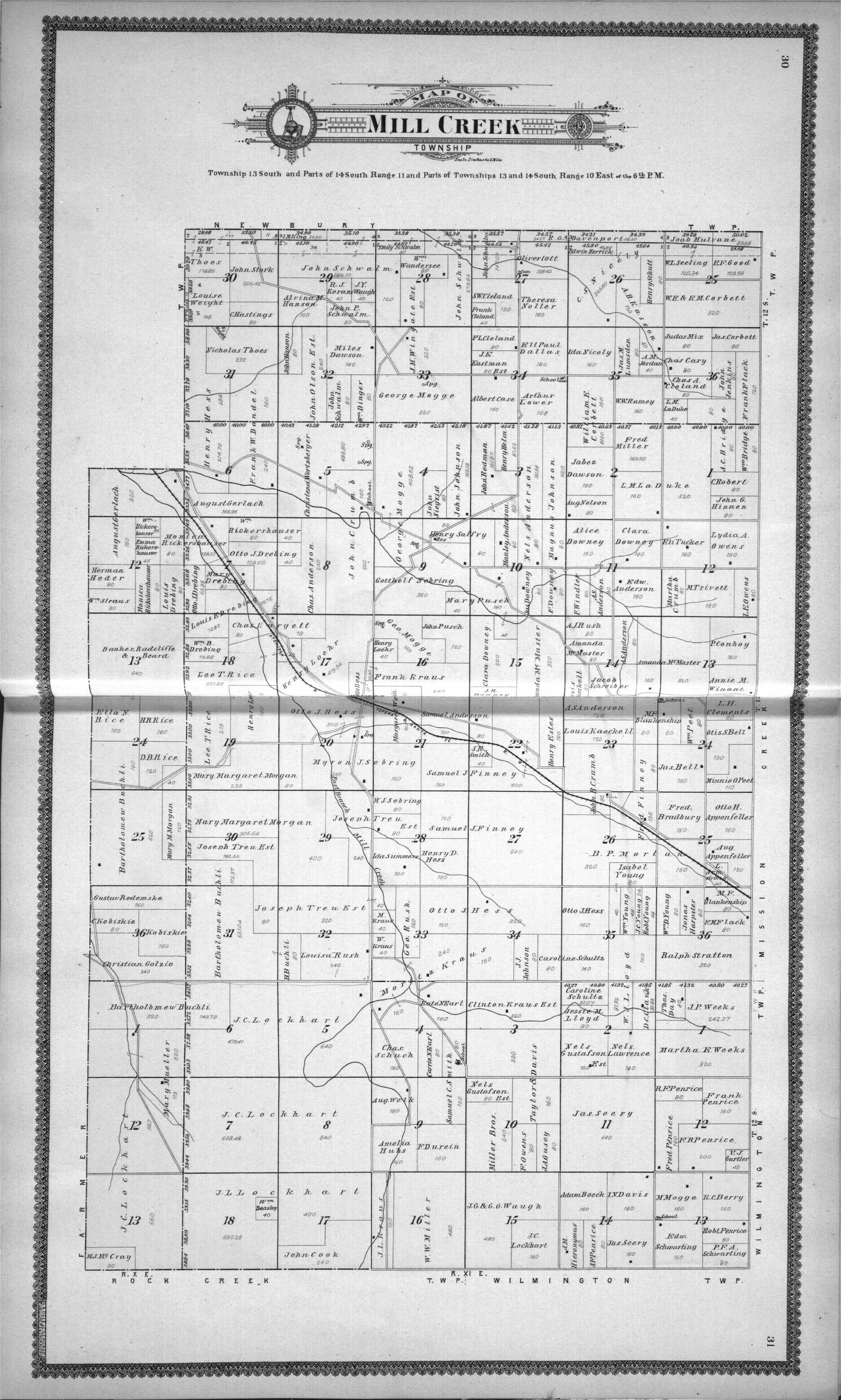 Standard atlas of Wabaunsee County, Kansas - 30 & 31