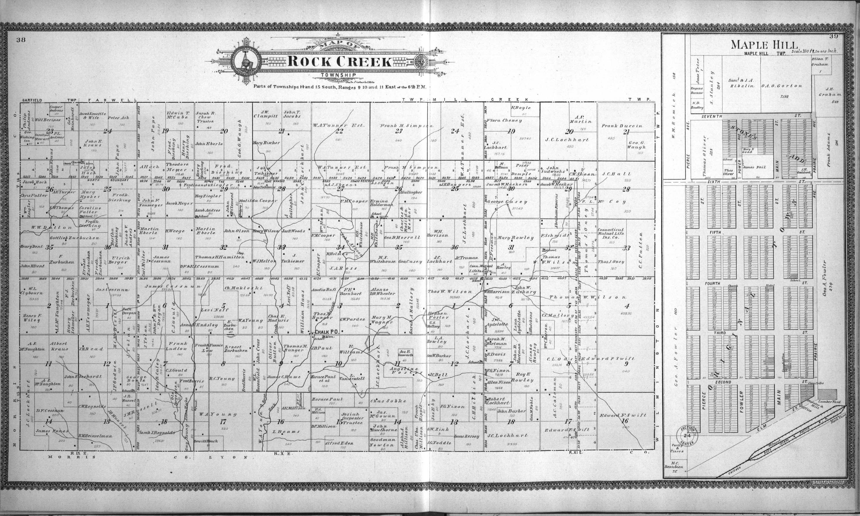 Standard atlas of Wabaunsee County, Kansas - 38 & 39