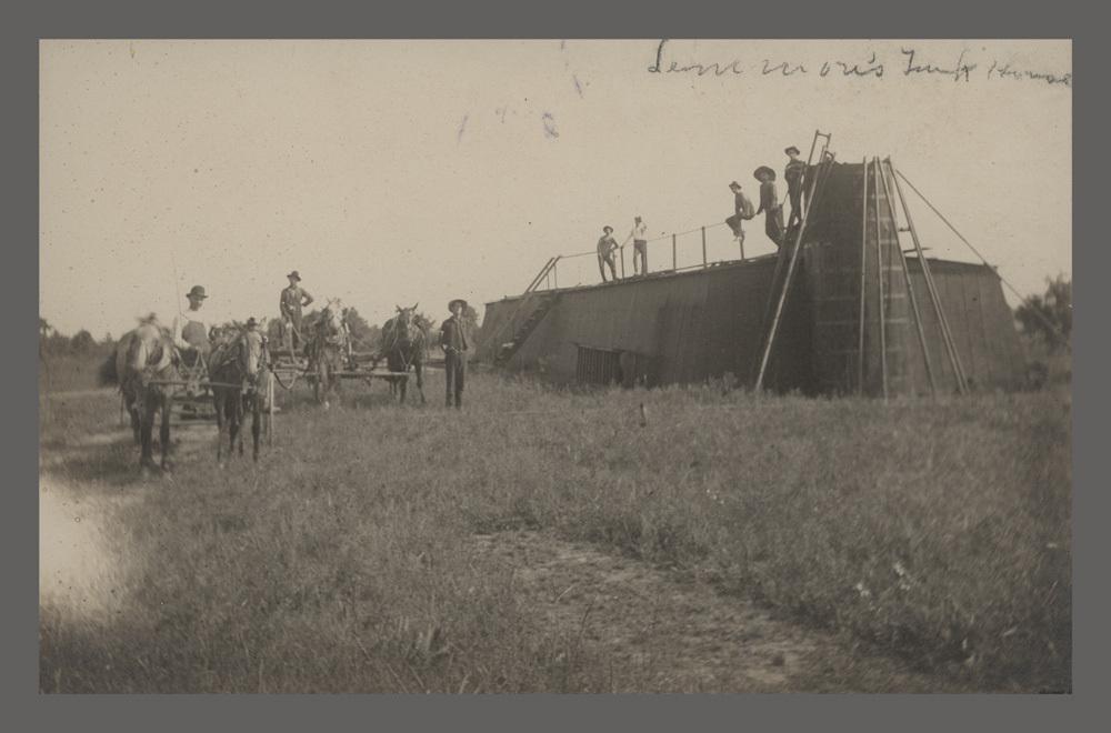 Unidentified men in an oil field, Peru, Kansas