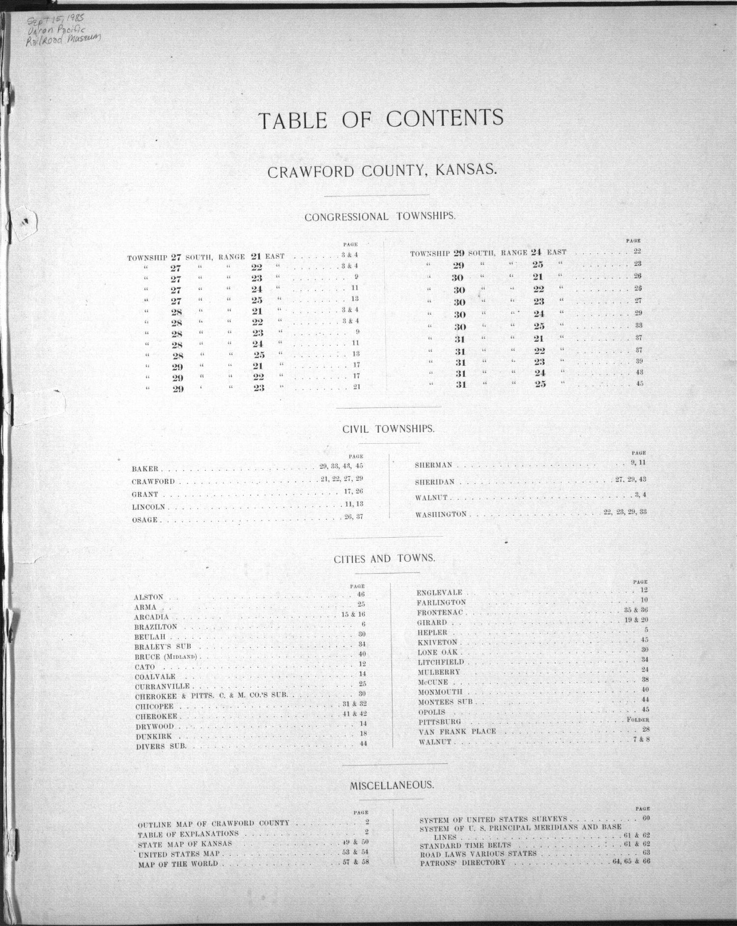 Plat book, Crawford County, Kansas - 2
