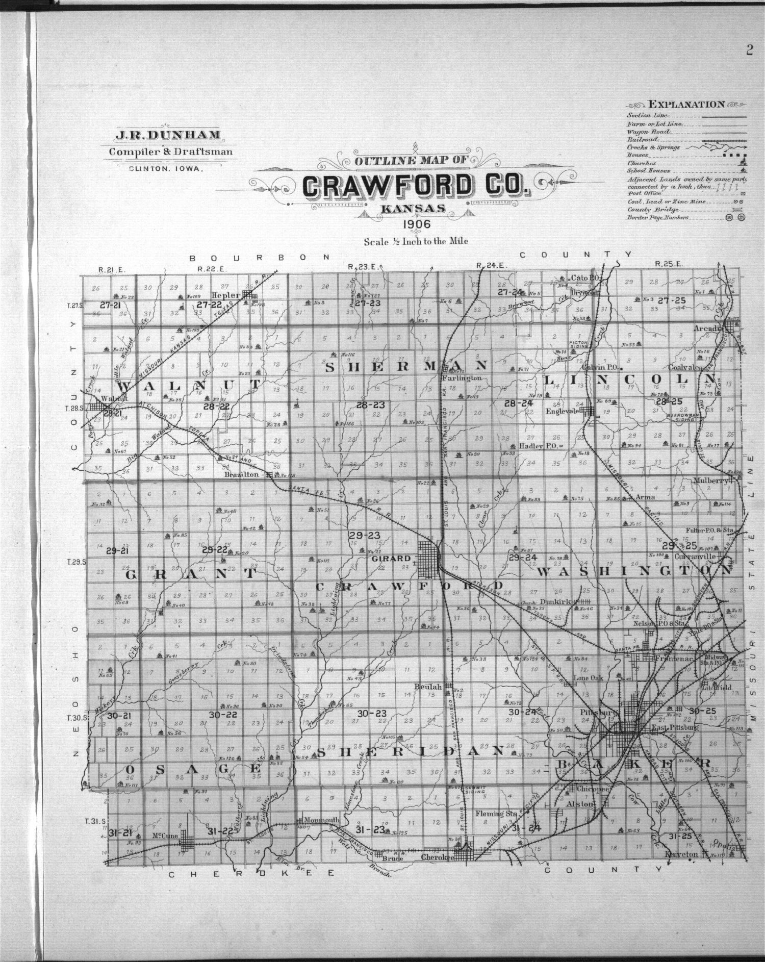 Plat book, Crawford County, Kansas - 3