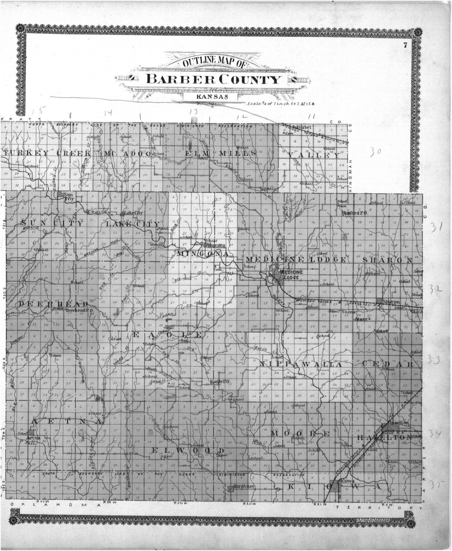Standard atlas of Barber County, Kansas - 7