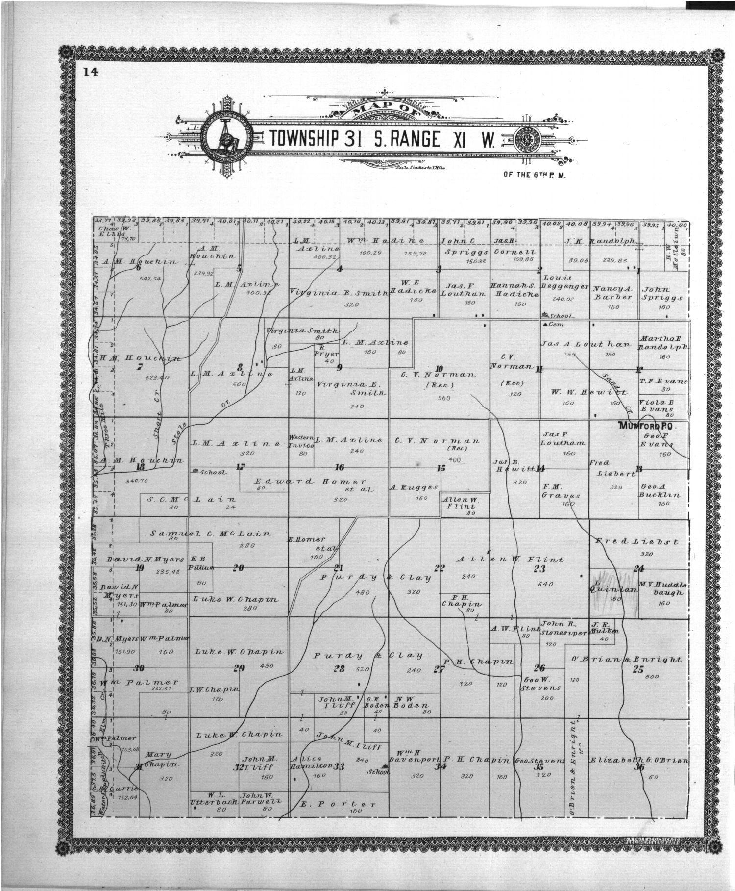 Standard atlas of Barber County, Kansas - 14