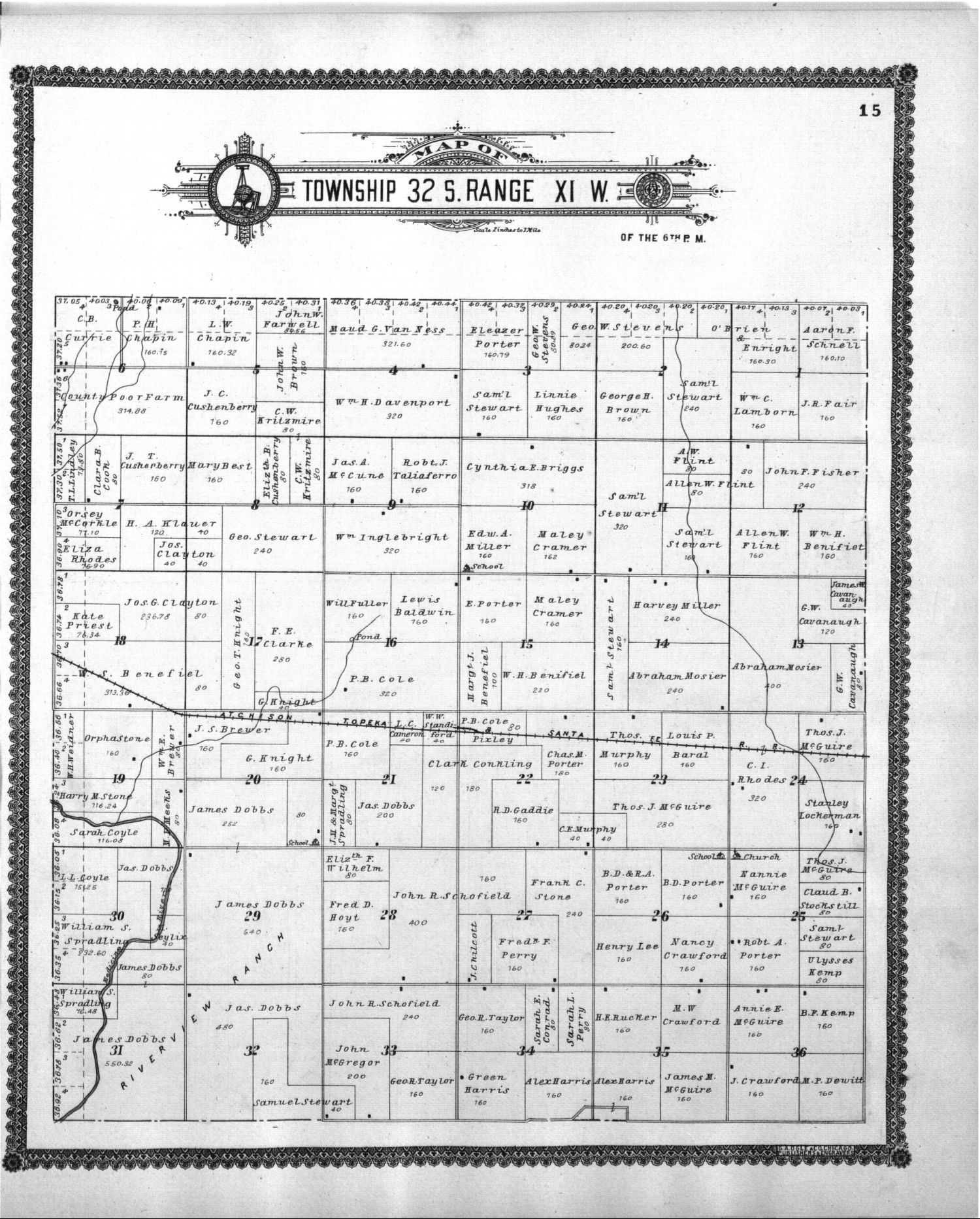 Standard atlas of Barber County, Kansas - 15