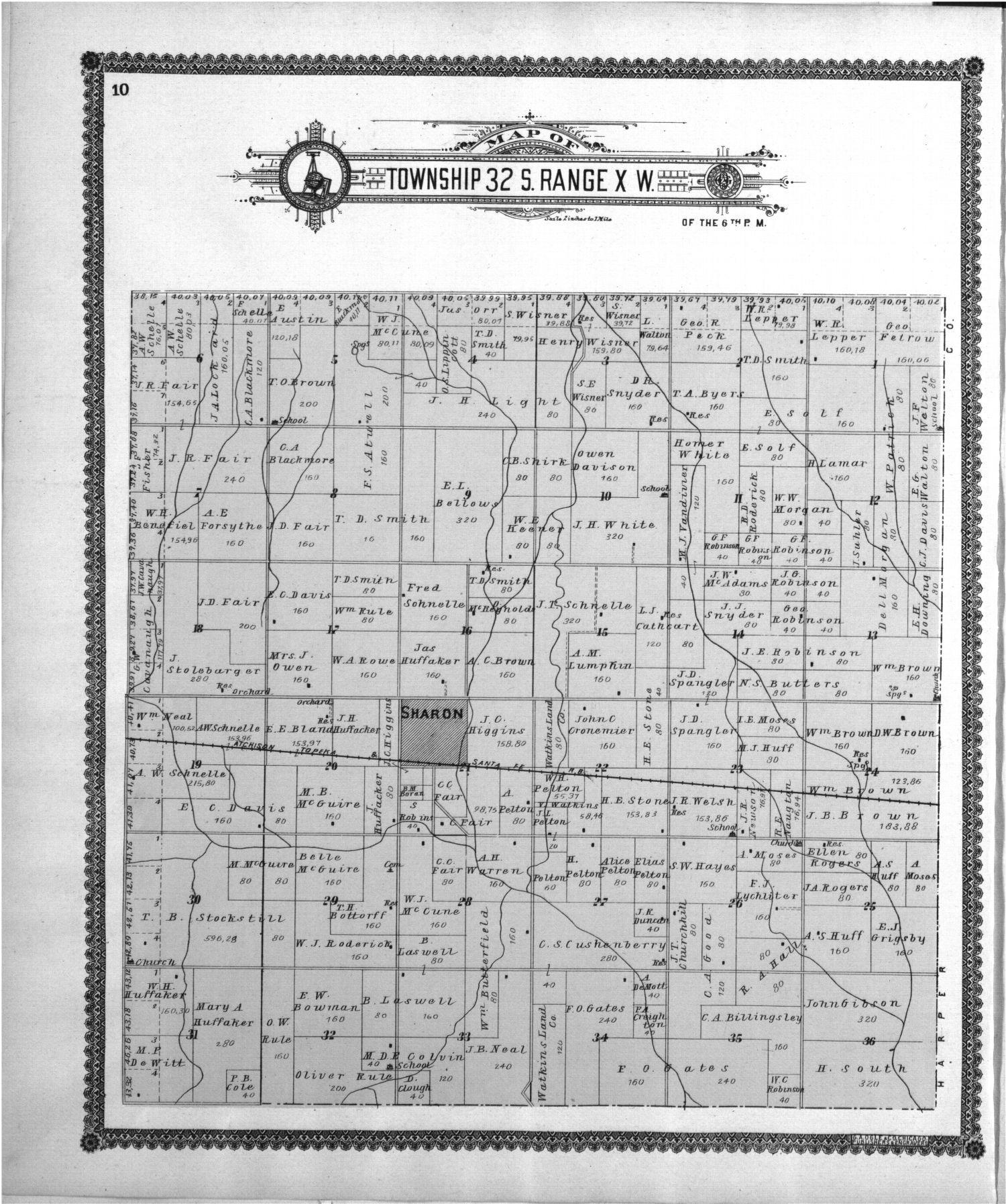 Standard atlas of Barber County, Kansas - 10