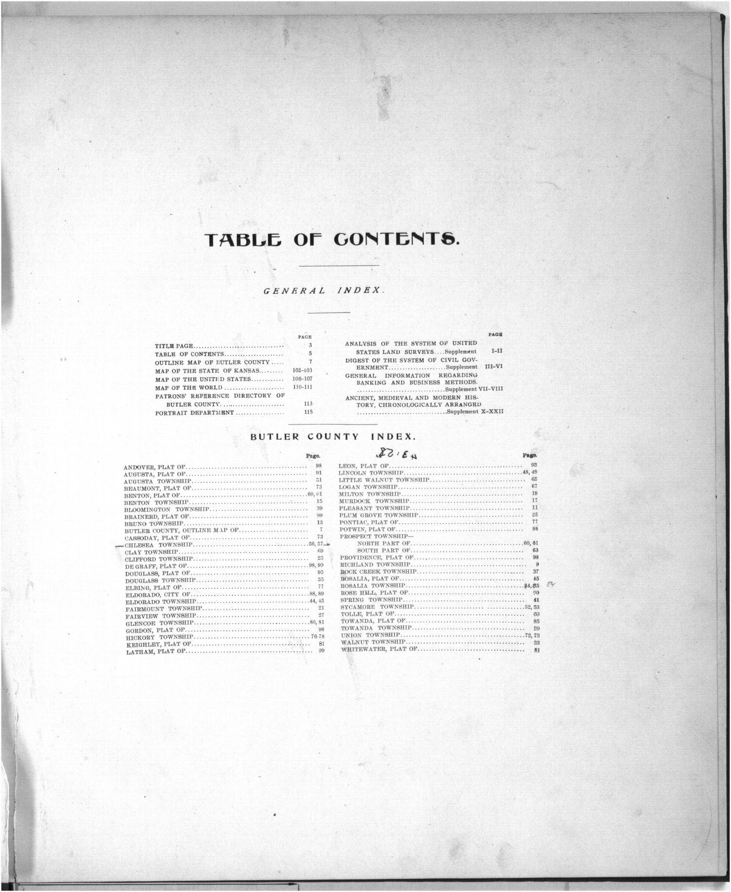 Standard atlas of Butler County, Kansas - 26