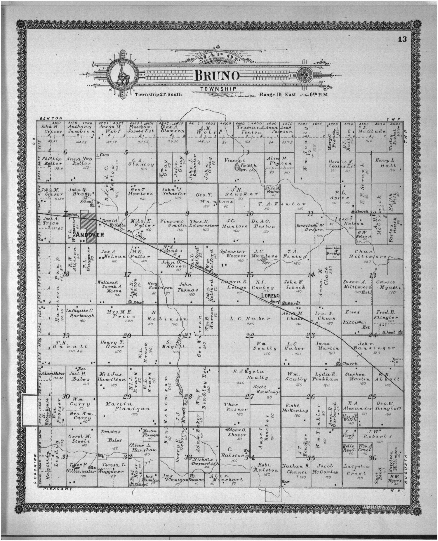 Standard atlas of Butler County, Kansas - 30