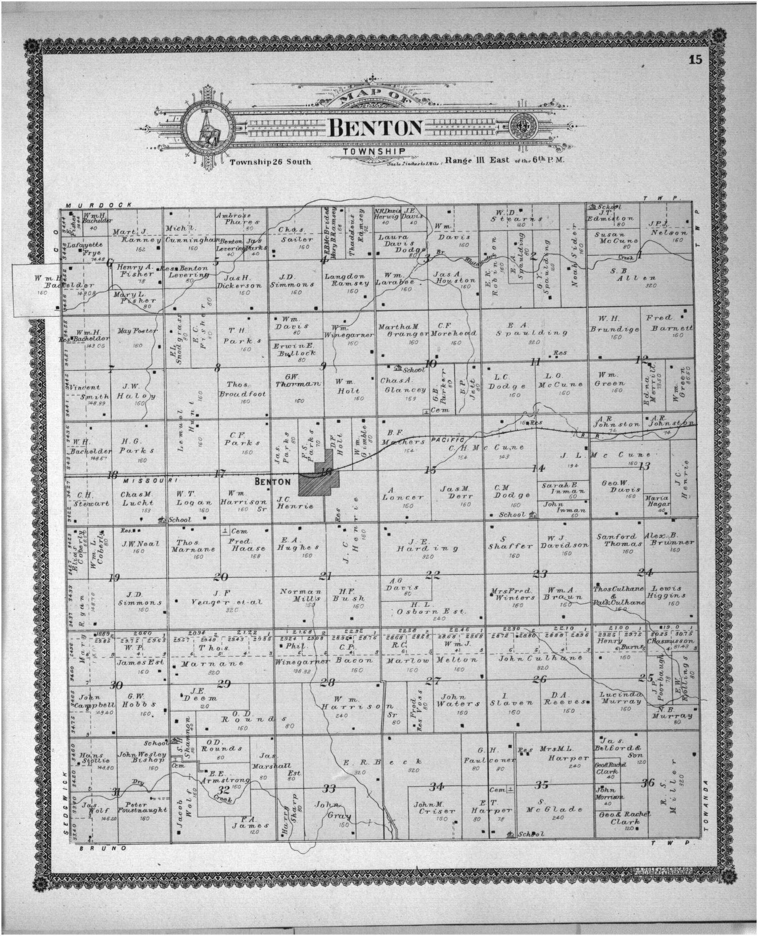 Standard atlas of Butler County, Kansas - 31