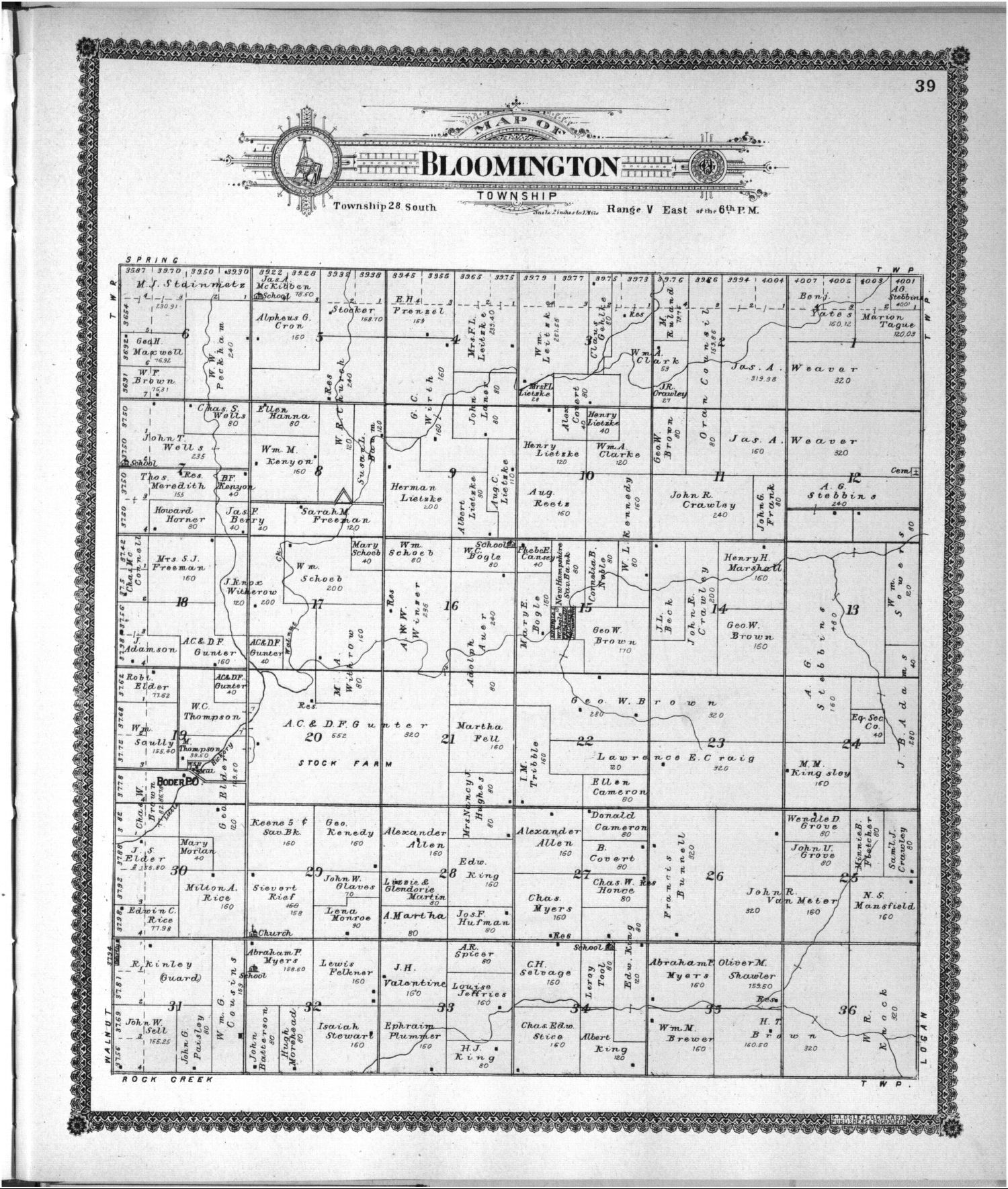 Standard atlas of Butler County, Kansas - 43