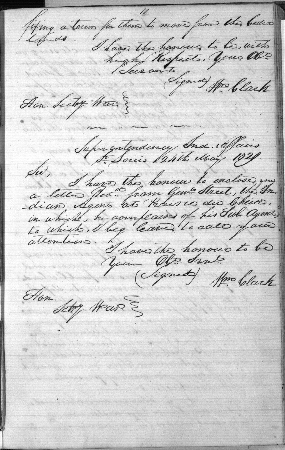William Clark to John H. Eaton - 3