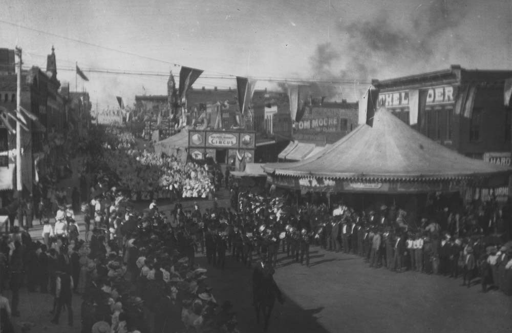 Lawrence Semi-Centennial Parade, Lawrence, Kansas