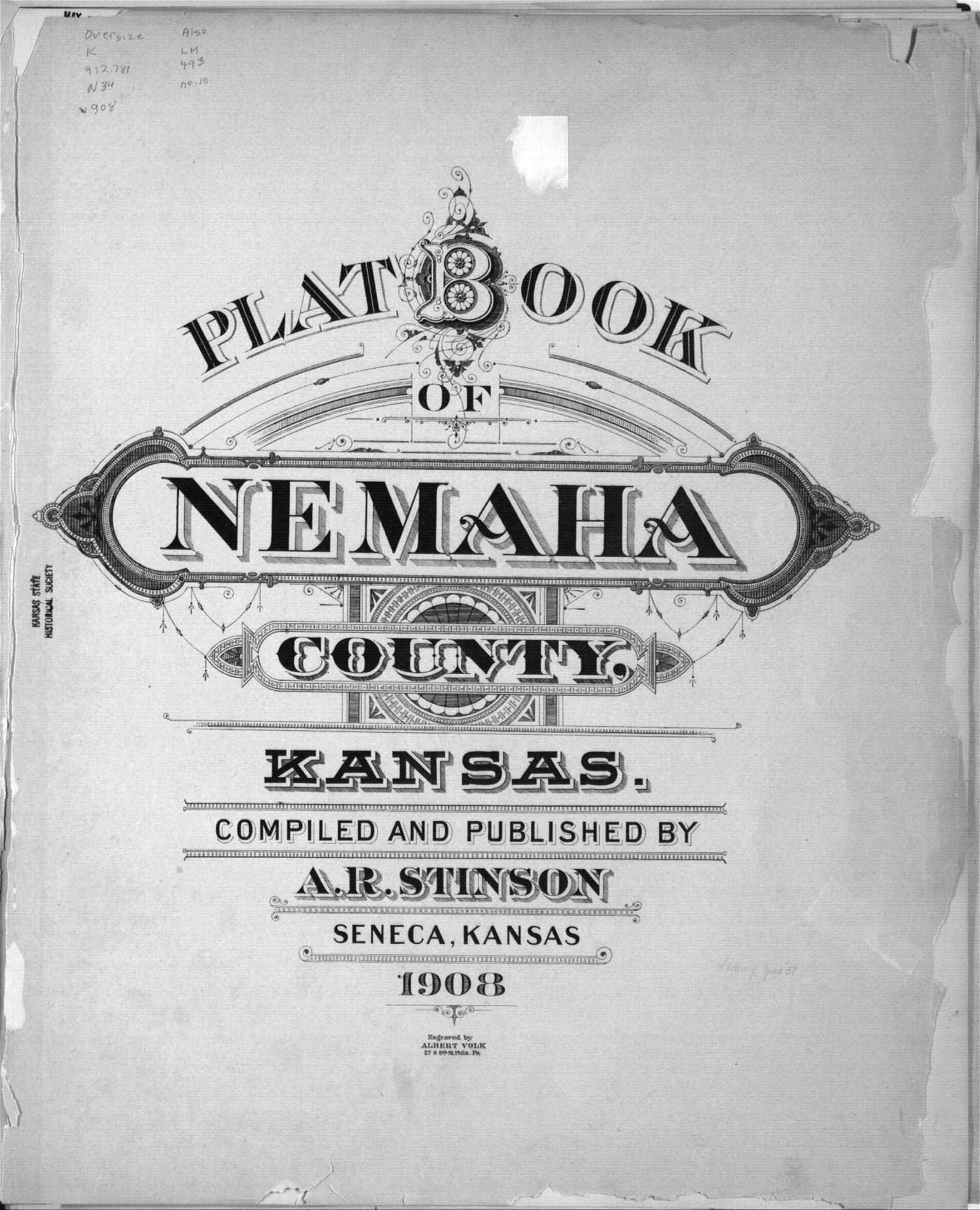 Plat book of Nemaha County, Kansas - Title Page