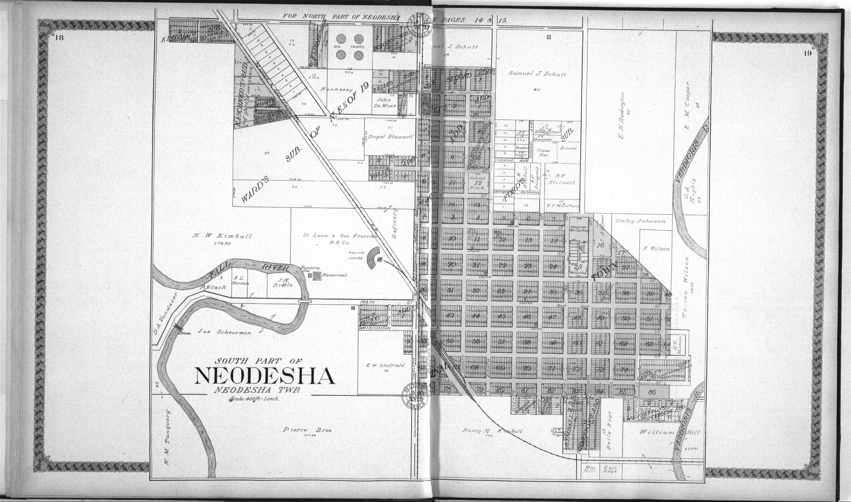Standard atlas of Wilson County, Kansas - 18 & 19