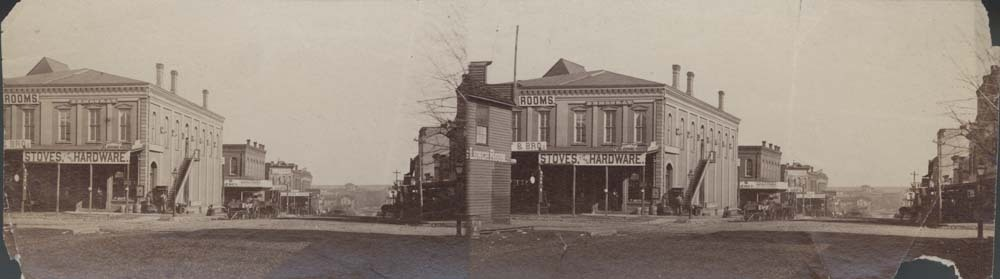 Corner of Main Street and Wall Street, Fort Scott, Kansas