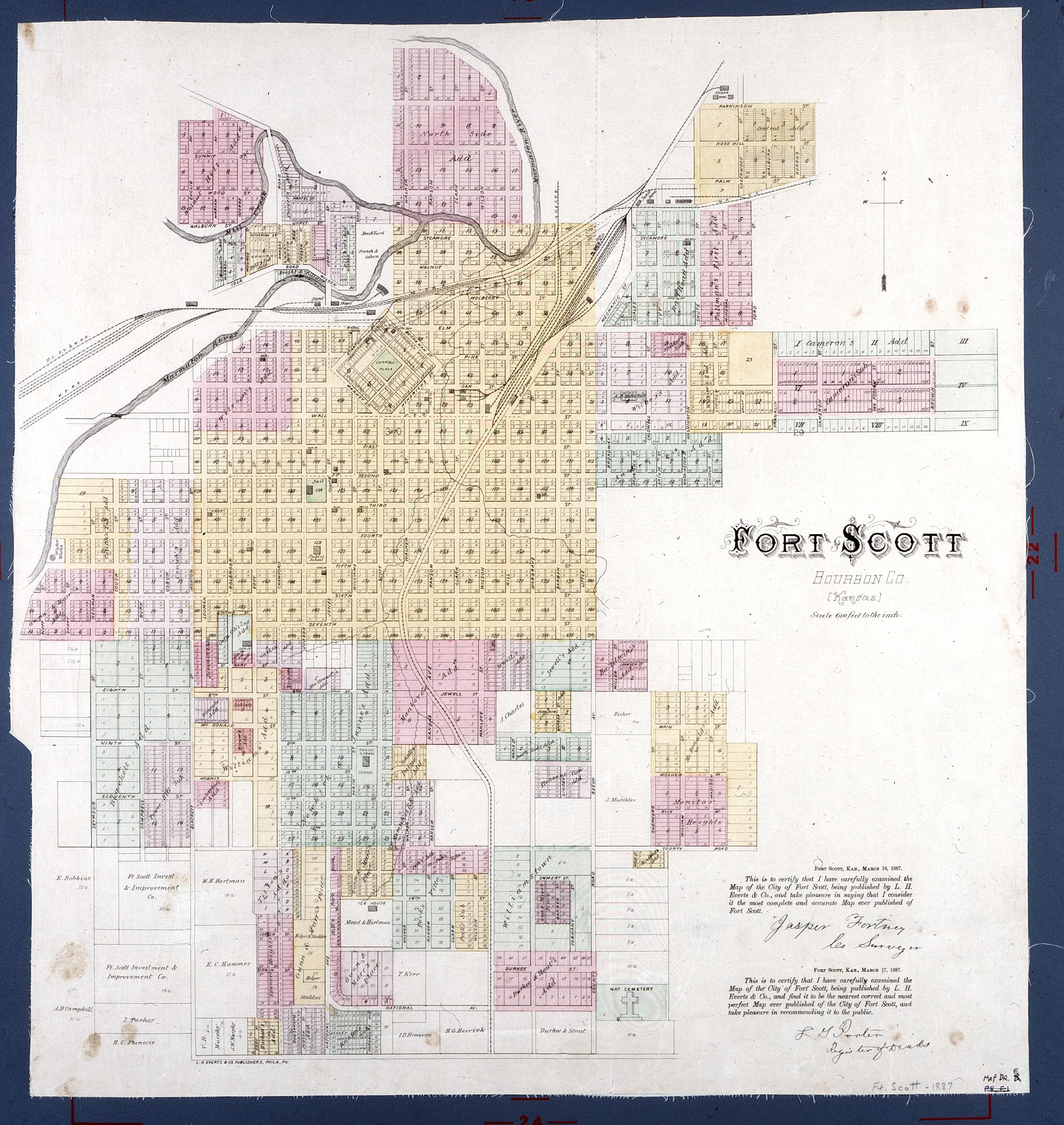 Map of Fort Scott, Kansas
