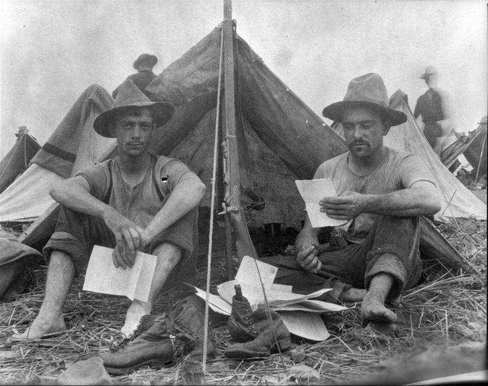 spanish american war soldiers camp alger virginia kansas memory kansas historical society. Black Bedroom Furniture Sets. Home Design Ideas