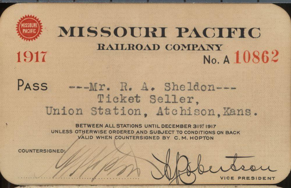 Missouri Pacific Railroad passes - 1