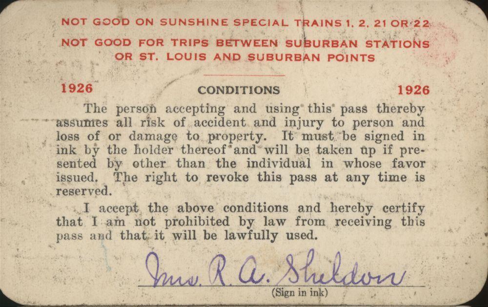 Missouri Pacific Railroad passes - 2