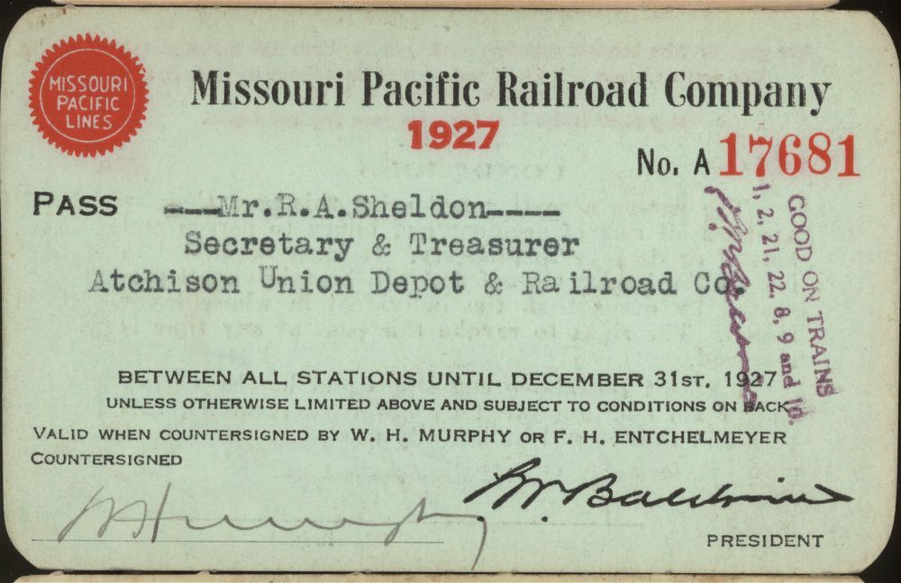 Missouri Pacific Railroad passes - 1