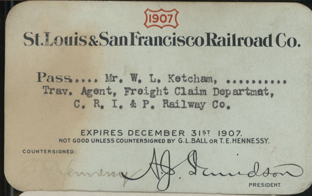 Railroad passes to various stations - 1